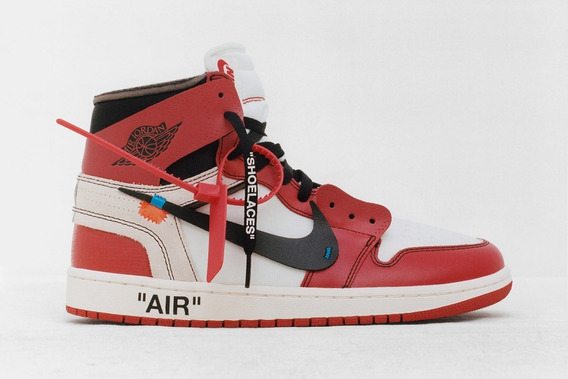 Tênis Masculino Nike Air Jordan 1 Off White Hype Promocional