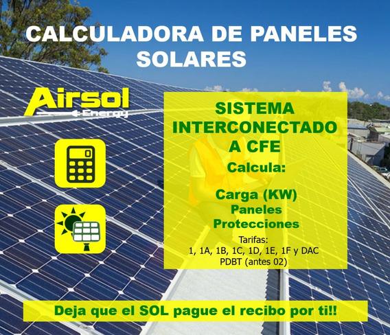 Calculadora De Paneles Solares Sistema Interconectados