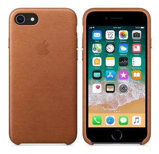 Funda Estuche Protector De Cuero Para iPhone 8/7 Marrón