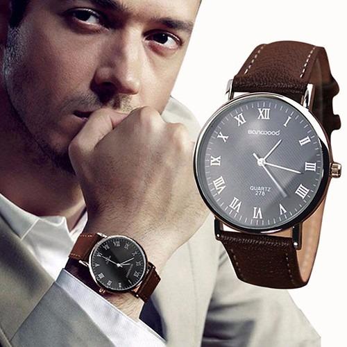 Relógio Pulso Masculino Luxo Analógico Quartzo Promoção