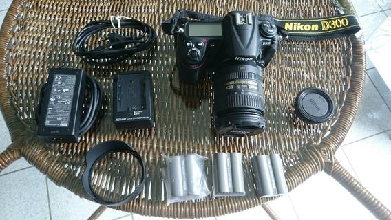 Nikon D300+lente+3 Bat (somente 9867 Clicks) Tudo Original
