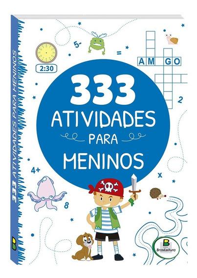 Livro Infantil 333 Atividades Para Meninos