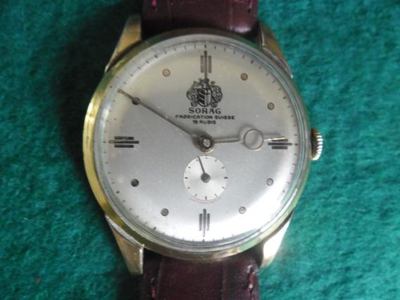 Relógio Sorag Fabrication Suisse Corda Calibre R W-8 Raro