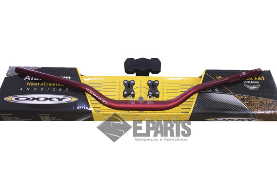 Guidao Cross Oxxy Fat Bar 31,8mm Alto Verm. (kit Adap+pad)