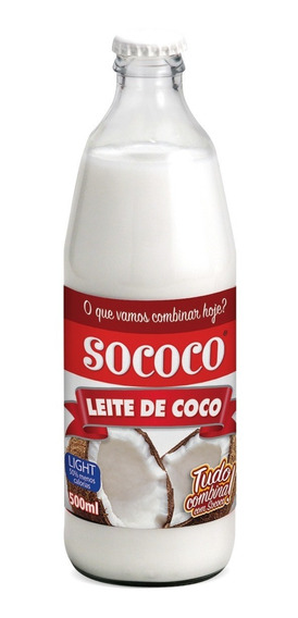 Leite De Coco Light Sococo Kit 6 Uni 500ml 6 Uni 200ml