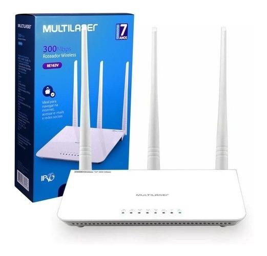 Roteador 300mbps Ipv6 - 2.4 Ghz - 3 Antenas Re163v
