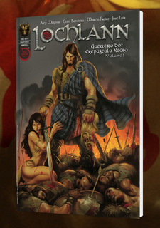 Lochlann Vol 1 Guerreiro Do Crepúsculo Negro Hq Fantasia