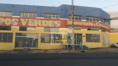 Salão Comercial Para Alugar Com 400 M² - Jardim Campos Verdes - Hortolândia/sp - Sl0783