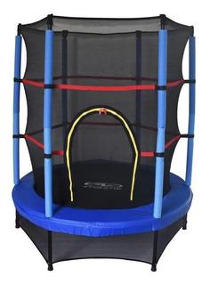 Mini Trampolin Uso Rudo Con Malla De Seguridad 4.5 Pies Azul