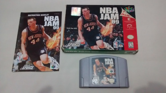 Nba Jam 99 Original Completa Caixa E Manual Originais