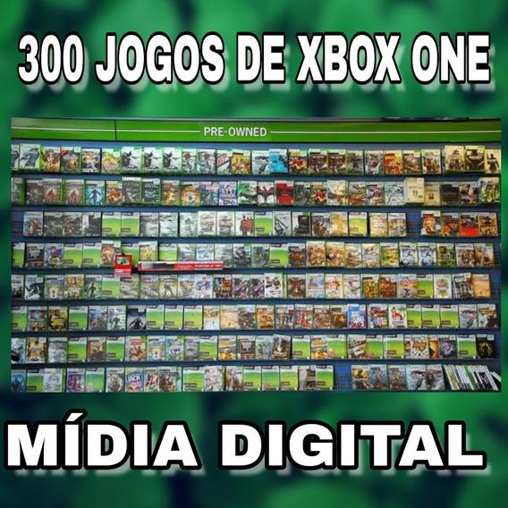 Pacote Com 300 Jogos De Xbox One Digital Original + Brinde