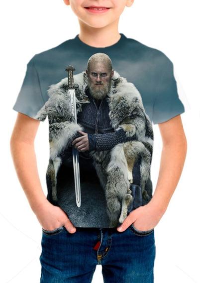 Camiseta Infantil Vikings 6ª Temporada - M001