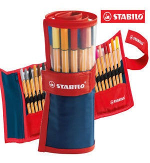 Canetas Stabilo Estojo 25 Cores Point 88 Fineliner Oferta