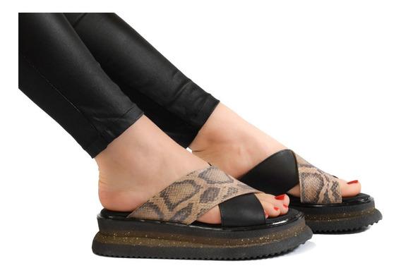 Sandalias Mujer Plataforma Zapatos Cuero Legítimo