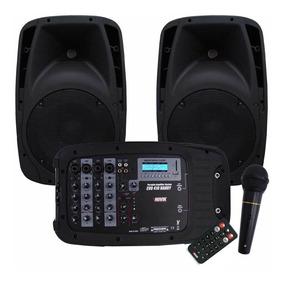 Caixa Mixer Ativa Novik Evo410 Handy Caixas + Mesa Usb E Bt