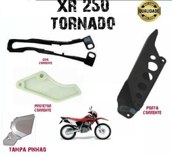 Protetor + Guia+ Porta Corrente+ Tampa Pinhão Xr-250 Tornado