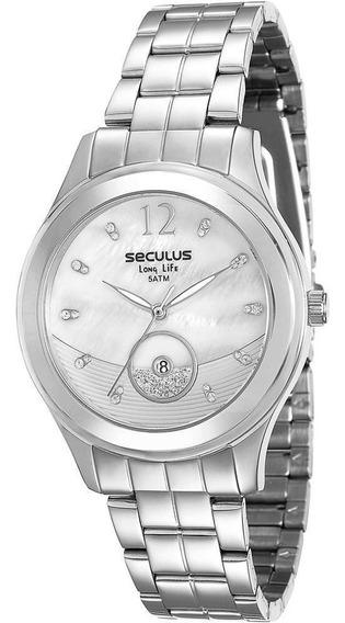 Relógio Seculus Analógico Fashion 23522l0svna2 - Prateado