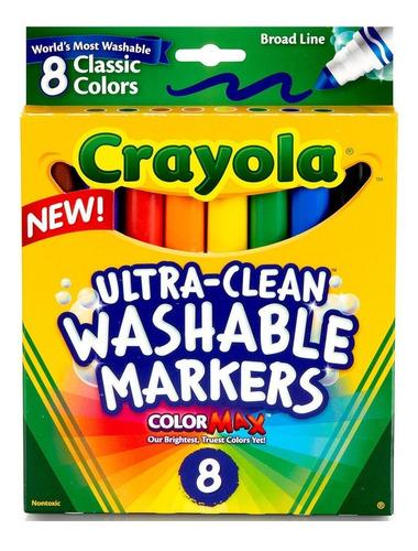 Marcadores Crayola Ultra-clean Lavable Colormax X 8 Original