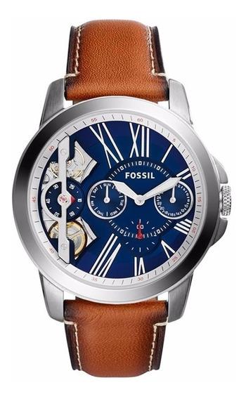 Relógio Masculino Fóssil Automático Pulseira De Couro
