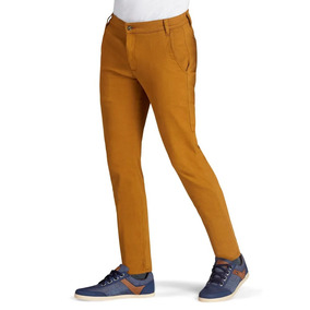 fd7320ab85 Pantalon Hombre Corte Slim Mostaza Algodón Juvenil 1388817
