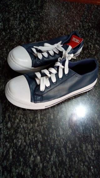 Zapatos Tipo Converse Tboe Color Azul A S10.