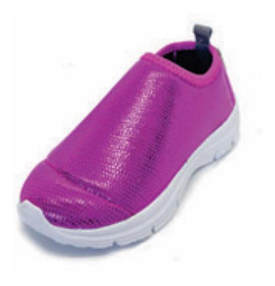 Zapatillas Diez Indiecitos Elastizadas Rosa Metalizado