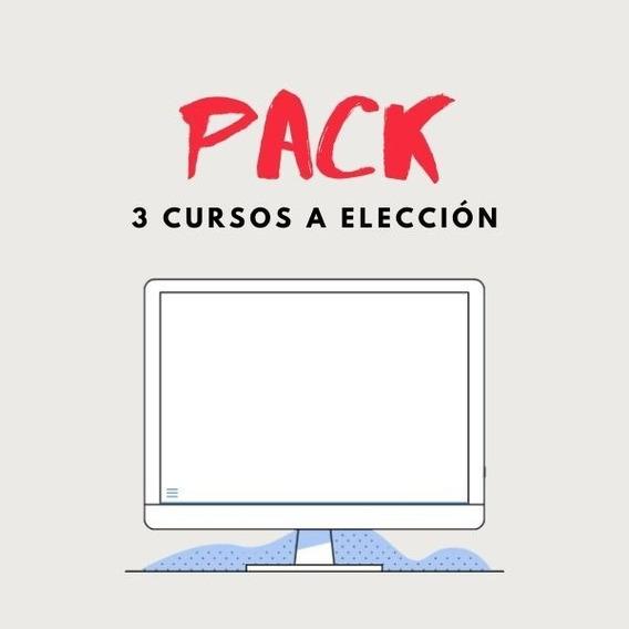 Pack 3 Cursos A Elección - Oferta - Drive
