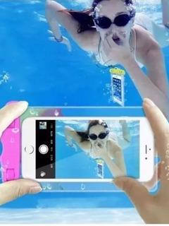 Capa Para Celular Impermeável, Tirar Fotos Na Água Fácil Uso