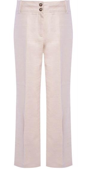 Calça Pantalona Em Linho Faixa Na Lateral Seiki 650406 Origi