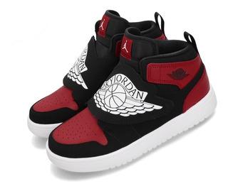 Bota Sky Jordan 1 Kids Negro Rojo 2019