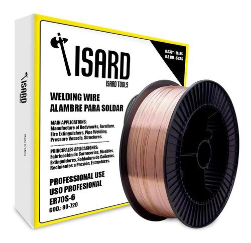 Imagen 1 de 5 de Alambre Mig P/ Soldar Con Gas 5kg 0.8 Isard
