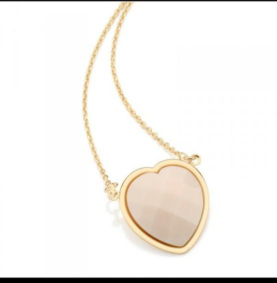 Rommanel Cordão Gargantinha Coração Nude Fo Ouro 45 Cm 53122