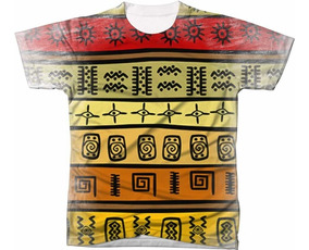 Camisa Camiseta Africana Africa Tecido Elementos Tribal