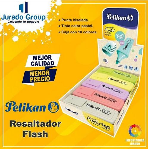 Resaltador Flash Pelikan Caja 10 Und