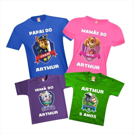 Camisetas Patrulha Canina Chase Skye Rocky Everest Festa