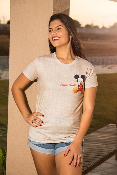 Camisa Estampa Do Mickey Mouse No Peito