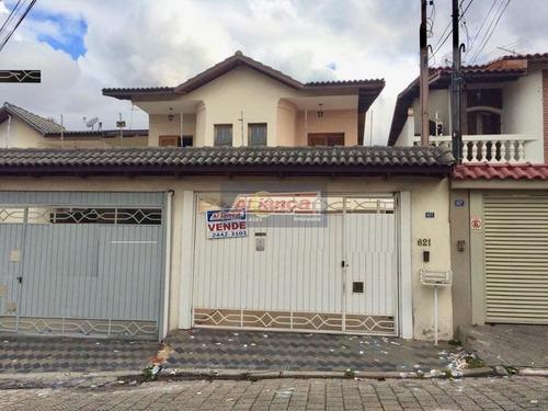 Sobrado Com 4 Dormitórios À Venda, 206 M² Por R$ 890.000,00 - Vila Augusta - Guarulhos/sp - Ai10931