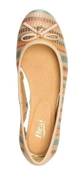 Calzado Dama Mujer Zapato Flat Flexi En Multicolor Comodo