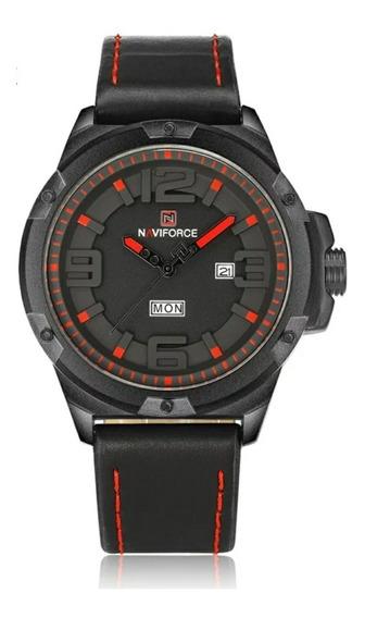 Relógios Masculinos Pulseira De Couro Original Com Caixa Top