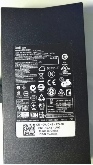 Fonte Notebook Dell 130w 19,5v 6.7a Pn: Vjch5 Original