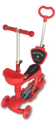 Patineta Scooter Para Niños 5 En 1 Personajes