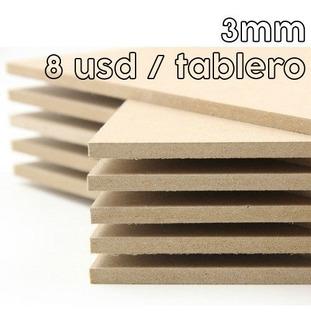 Tableros Mdf 3mm 120x240 Cm Planchas Pedazos 6-9-12-15-18 Mm
