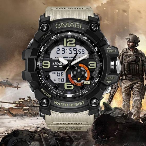 Relógio Smael Esportivo 1617 Tan Resistente A Água