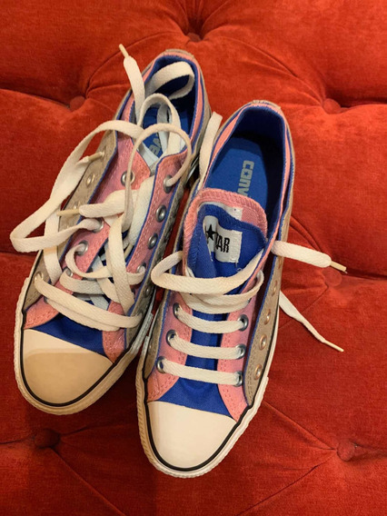 Converse Zapatillas Nro Us 7.5 Nuevas Mujer Rosa Y Gris