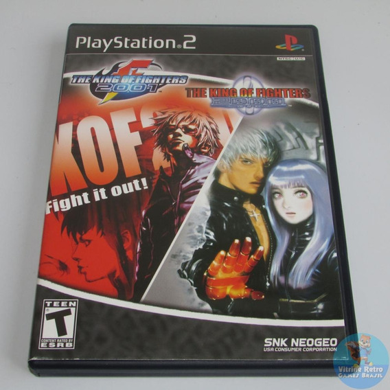King Of Fighters 2000/2001 Ps2 Original Americano Raridade!