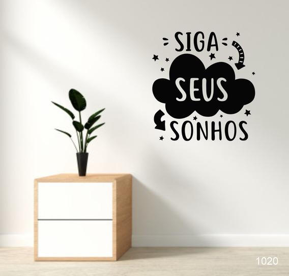 Adesivo Decorativo De Parede Siga Seus Sonhos - 64x60cm
