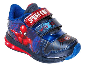 Tenis Niño Luces Spider Man 79719 Env. Gratis!!