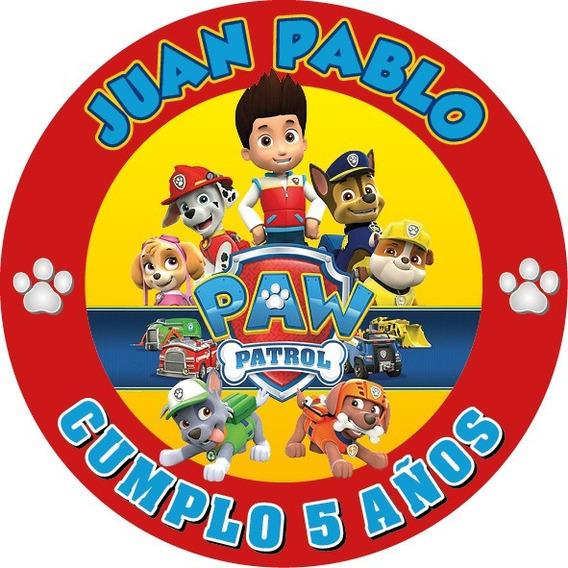 100 Etiquetas Autoadheribles Personalizadas Paw Patrol