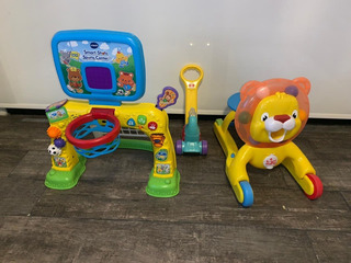 Fisher Price Caminador + Vetch Futbol Basquet