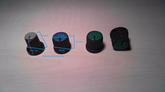 Knobs P/ Potenciômetro Eixo Estriado (as 4 Peças)
